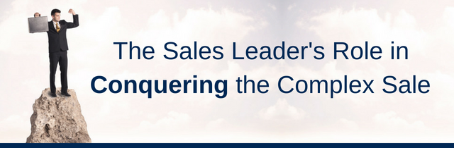 Sales Leader Role in Complex Sales