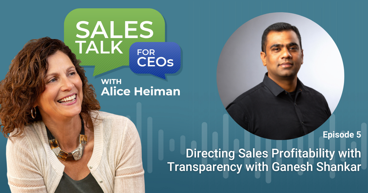Directing Sales Profitability - Sales Talk for CEOs Podcast